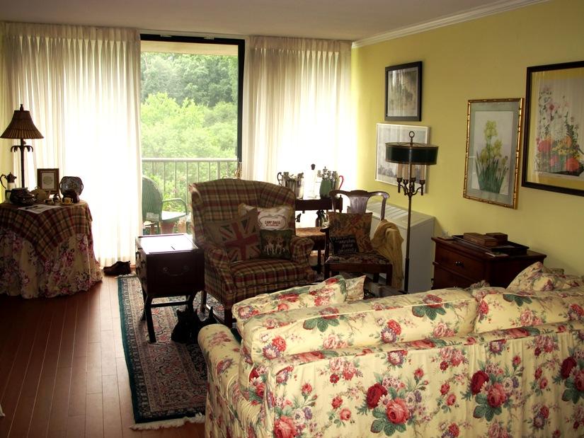 Living Room with Laminate Flooring Gets Plenty Of Natural Light