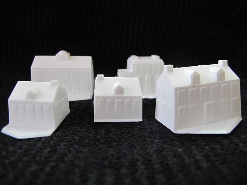 Wallingford PA Real Estate - Wallingford PA - White Houses On Black Background