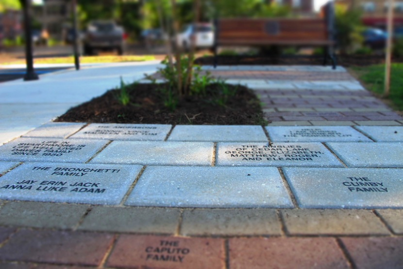 Commemorative Bricks In The Recently Completed Central Park
