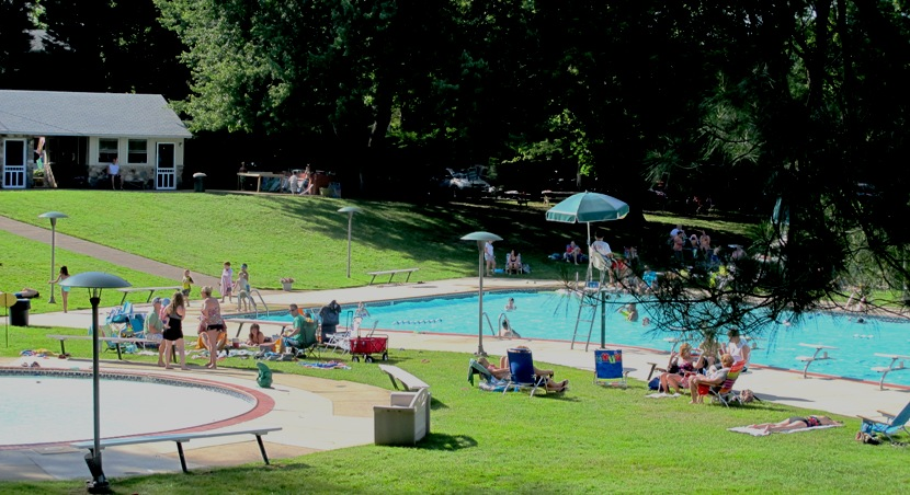 Seeking Relief From The August Heat At Creekside Swim Club