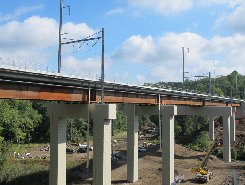 New SEPTA Crum Creek Viaduct Opened To Rail Traffic In September