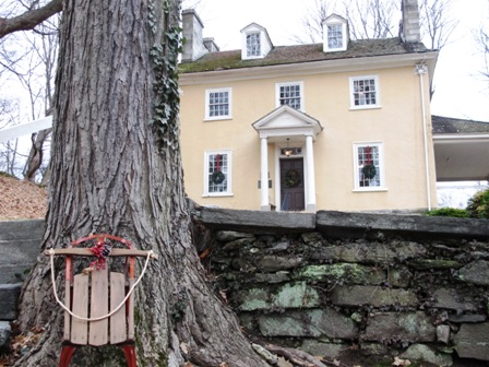 wallingford-pa-real-estate-wallingford-pa-thomas-leiper-house-colonial-christmas-2014-entrance