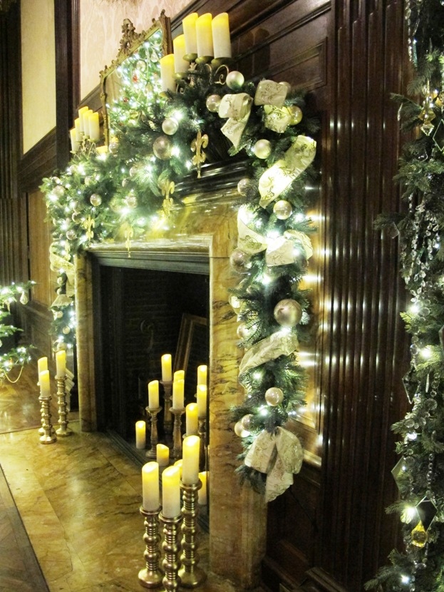 Music room fireplace for Longwood gardens christmas 2017