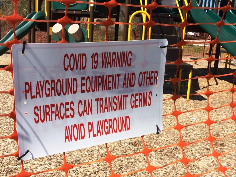 Playgrounds closed due to coronavirus outbreak