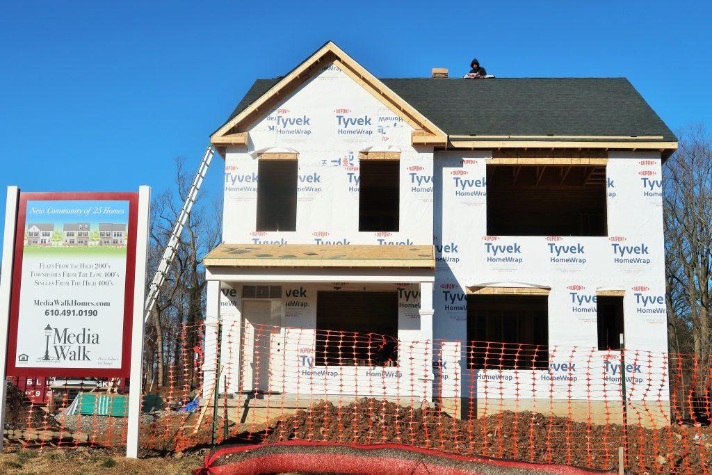 Media Walk - new home construction along Wallingford Avenue - Wallingford, PA